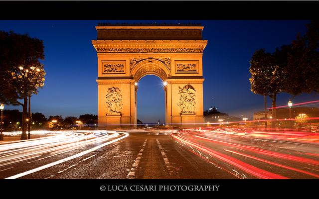Arc de Triomphe, Sunset
