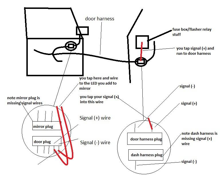 for international heated mirror wiring diagram