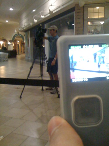 Hello mr newsman! You film me, and I film you! Give and take relationship
