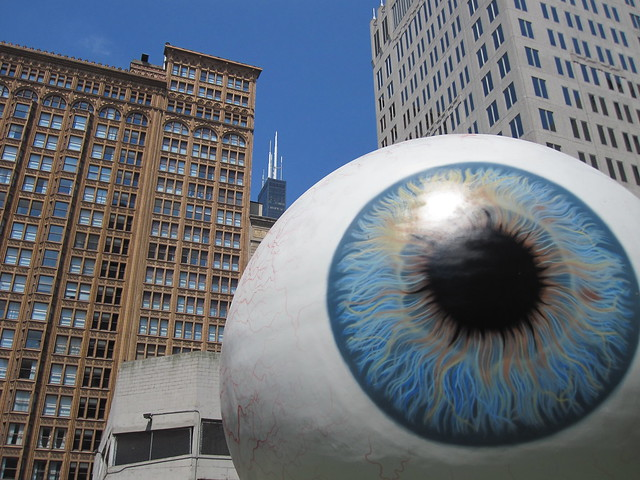 Big Eye Statue in Chicago