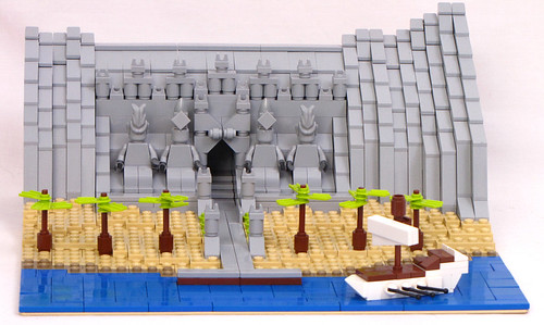 LEGO micro Abu Simbel by Shmails