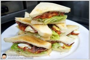[西餐]三明治類 培根、萵苣、番茄三明治