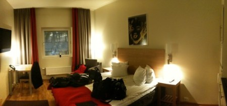 Our hip, ultramodern hotel room in Stockholm