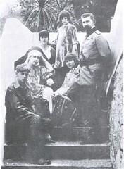 Familia regală la Palatul Regal din Bicaz în 1918