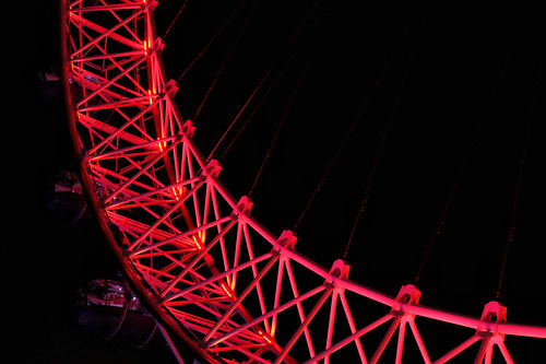 The Coca-Cola London Eye shines bright in the darkness