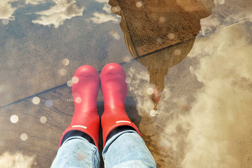 Red gumboots at St Paul's Cathedral