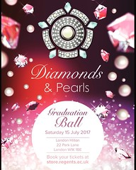 Diamonds and Pearls - What better way to celebrate your time at Regent's than the Graduation Ball? Buy your tickets now at store.regents.ac.uk