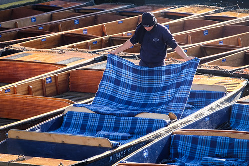 Punts with blankets