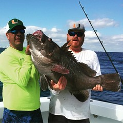 Capt. Manny and Billy catch a nice Warsaw Grouper today on Spellbound