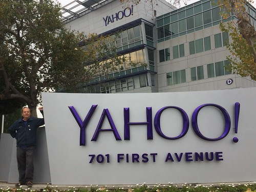 At Yahoo! campus