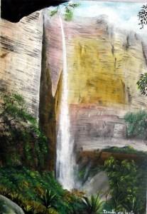 Cachoeira da fumaça - vista da fenda