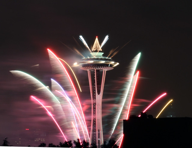 New Years Eve Wallpaper Iphone 6 Space Needle New Year S Eve 2015 2016 Fireworks Pictures