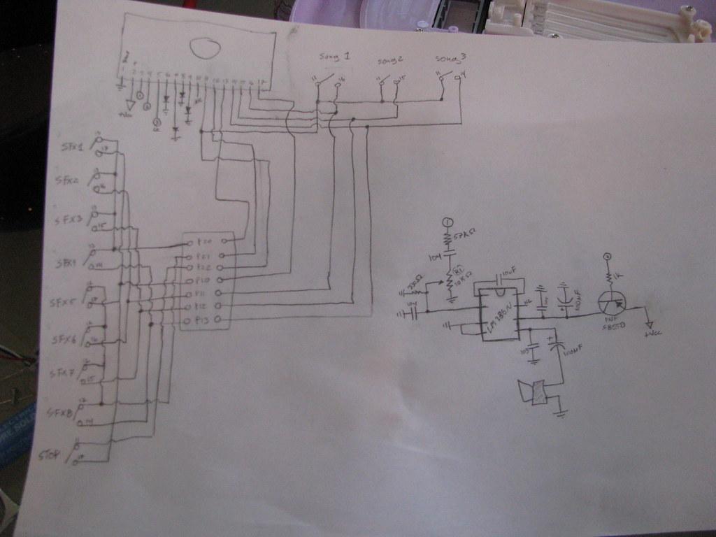 hanna montana circuit bent guitar schematic