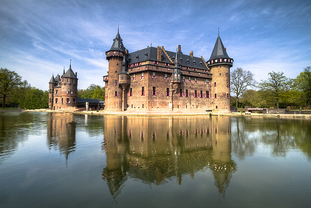 Castle De Haar in The Netherlands (Front View)