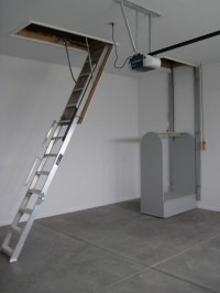 "Pull-down Stairs and Attic Lift | The lift is 44"" x 24 ..."