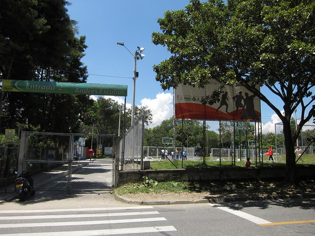Across the street is Unidad Deportivo de Belen -- a popular outdoor sports complex.
