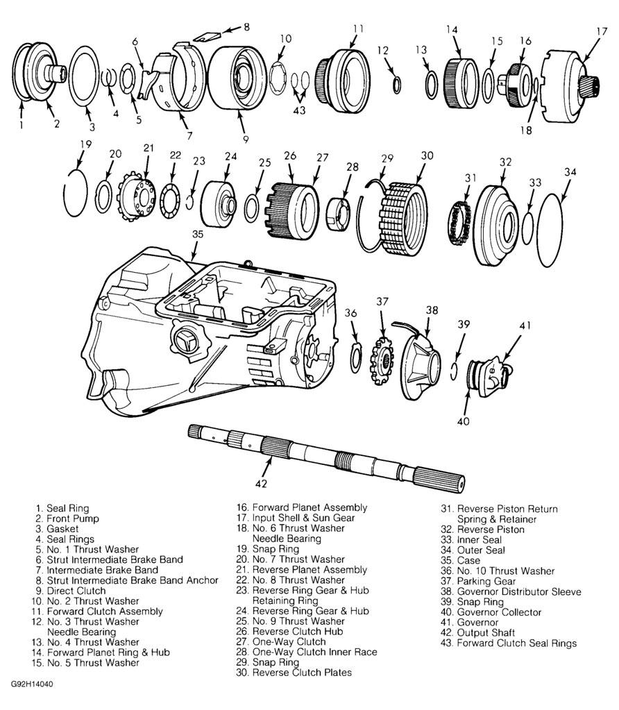 ford c6 transmission diagram