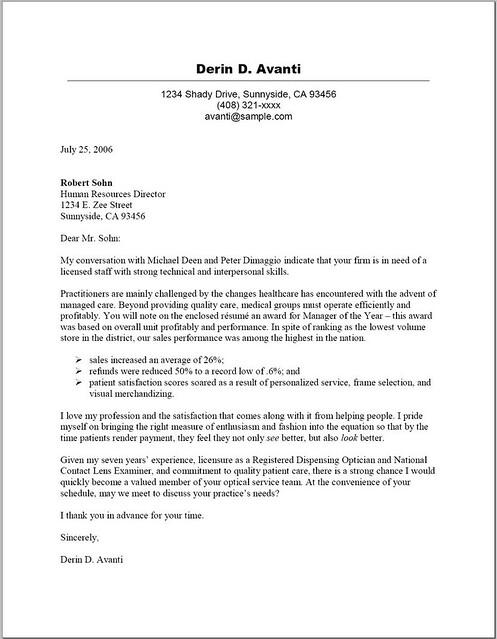 cover letter for sales representative