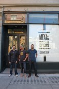 Joseph Sartor, Cord Jarvie, Frankie Harrington before the opening of Meat & Bread