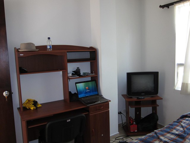Each room also features cable television, a desk, and a floor fan.