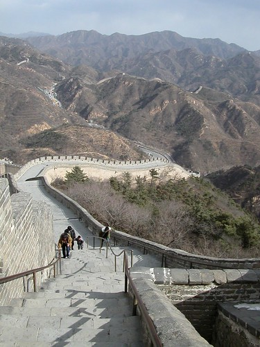 Steep steps on the Great Wall