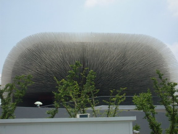 UK Pavilion during Shanghai World Expo, by Itamar Medeiros