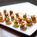 Nicoise 'salad' | seared BC Albacore tuna, egg yolk, green bean, olive aioli, cherry tomato and micro greens on a potato pave