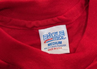 Made in USA shirt tag prisoner assembled product
