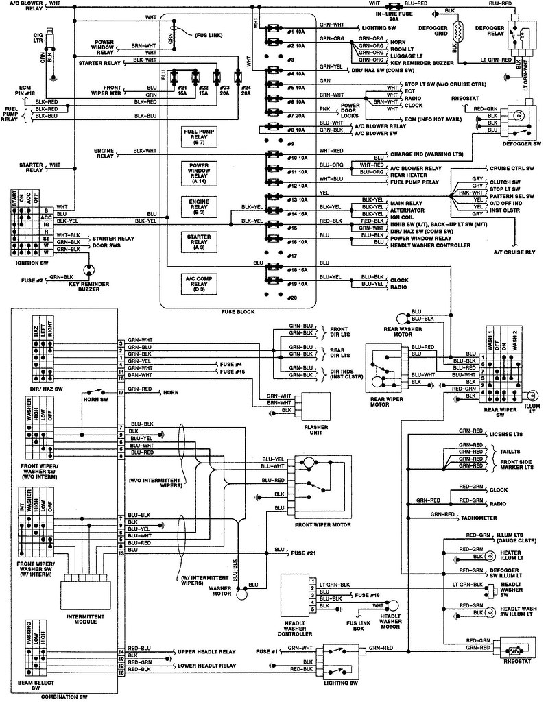 1991 isuzu trooper fuse box diagram