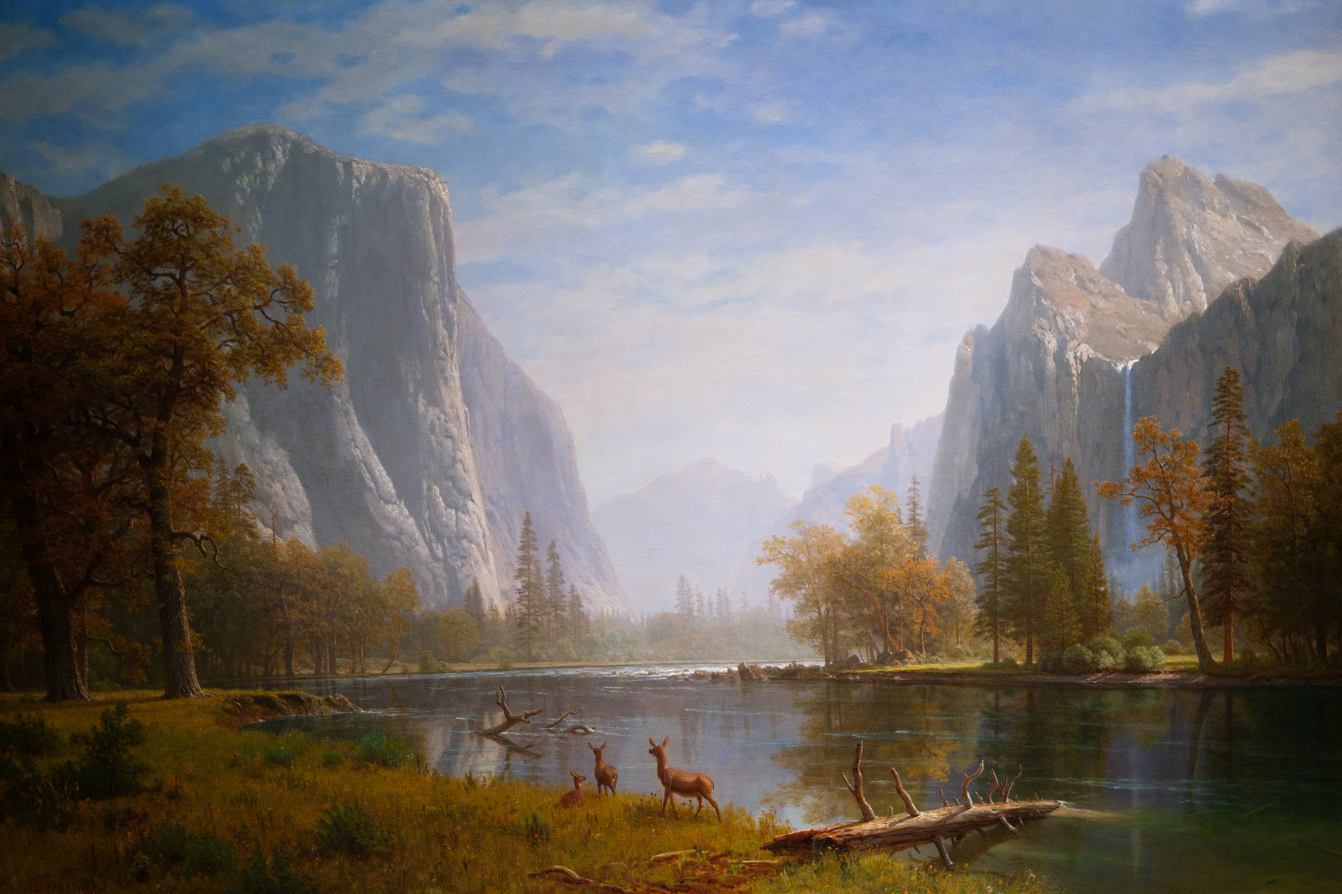 Free Fall Color Wallpaper Albert Bierstadt S Classic Yosemite Valley Haggin Museum