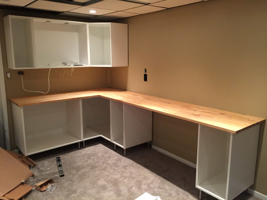 How To Install Ikea Countertops Installing Ikea Sektion Kitchen Cabinets As Basement