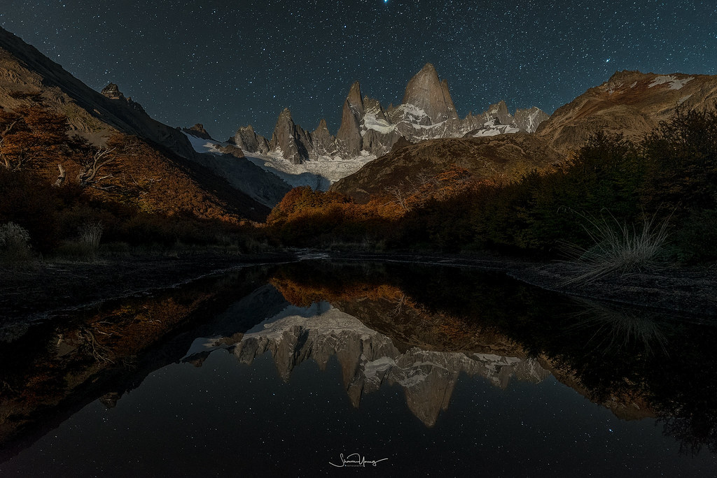 Fitzroy Reflection Fitzroy mountain reflecting into a sma\u2026 Flickr