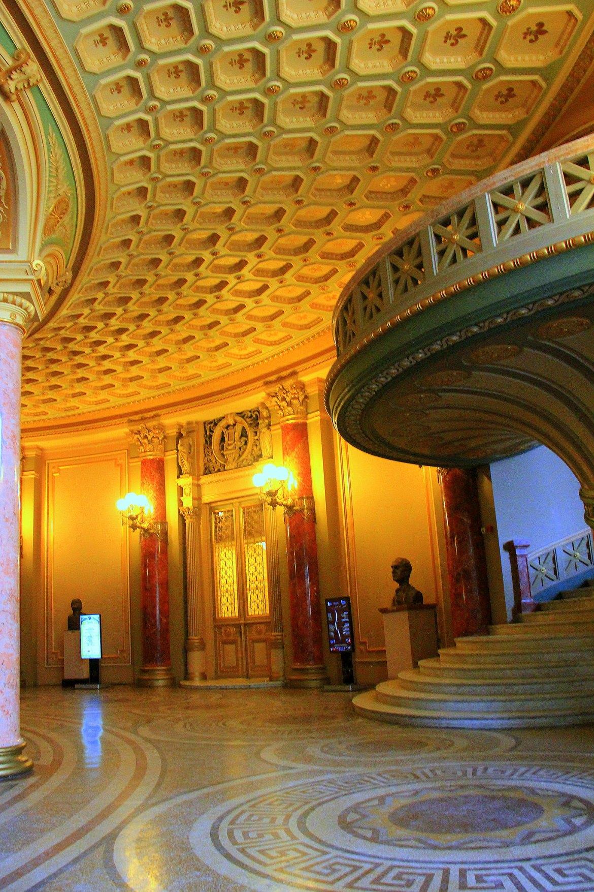 Interiors of the Romanian Athenaeum of Bucharest Romania