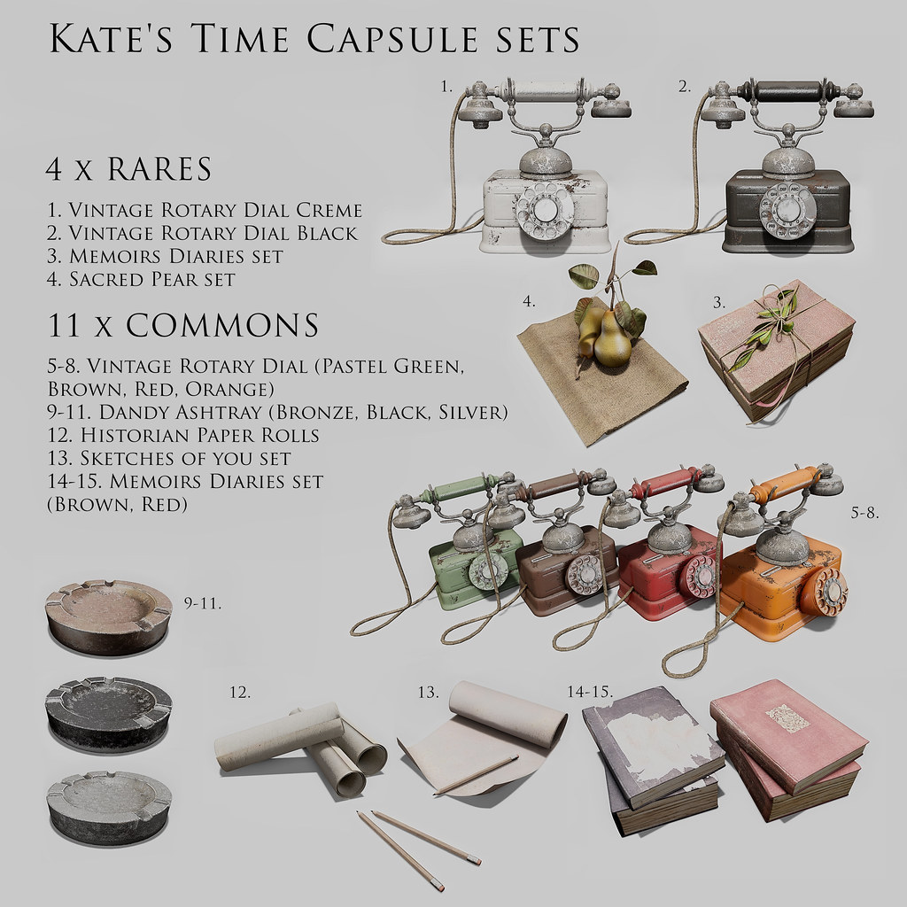 Red 1 Next To Time Capsule Nutmeg Kate S Time Capsule Sets Gacha Key Nutmeg Kate S