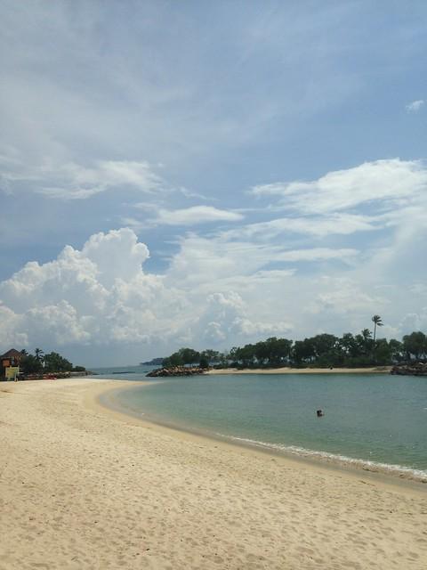 Write about Singapore _ Sentosa Island Beach
