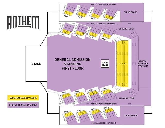 Around Town Super Excellent Seats @ The Anthem \u2014 11/28/18 Parklife DC