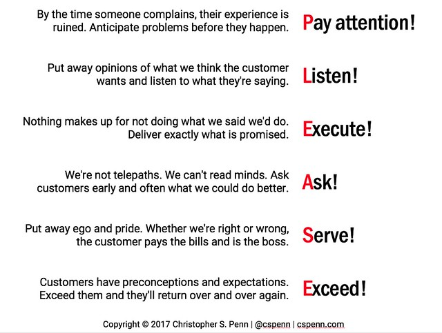 Great Customer Service in One Slide - Christopher S Penn Marketing Blog
