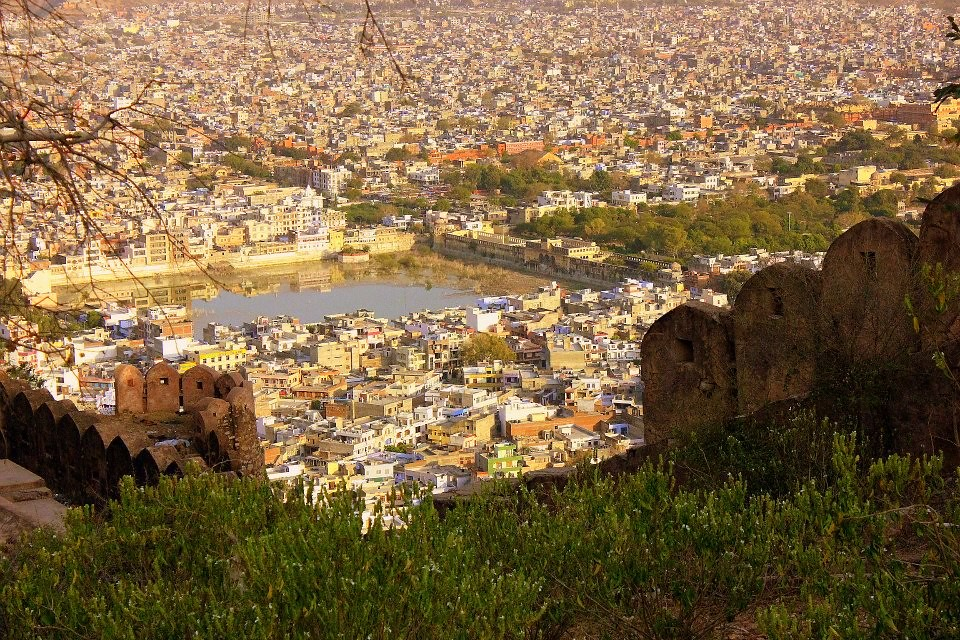 Views of Jaipur from top of Nahargarh Fort