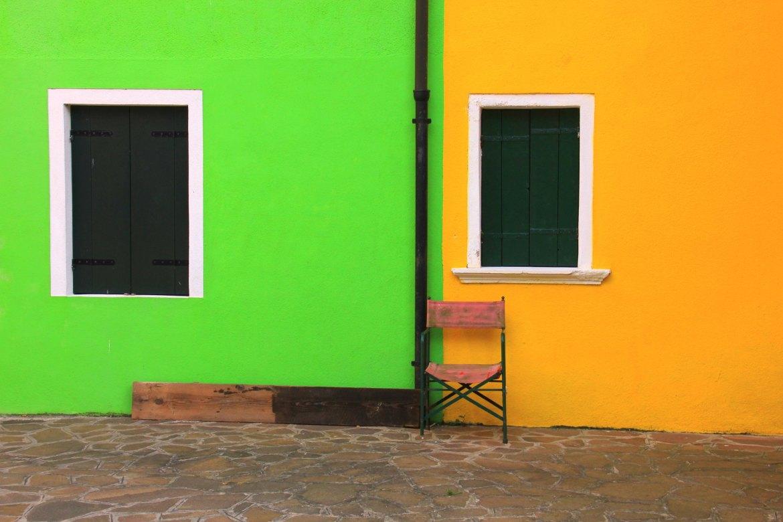 Burano island is rainbow hued