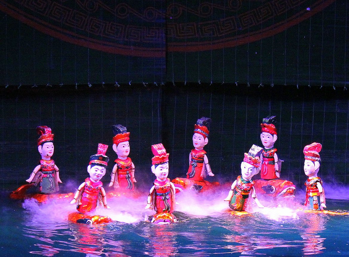 Water puppet show is a must do on your Vietnam trip