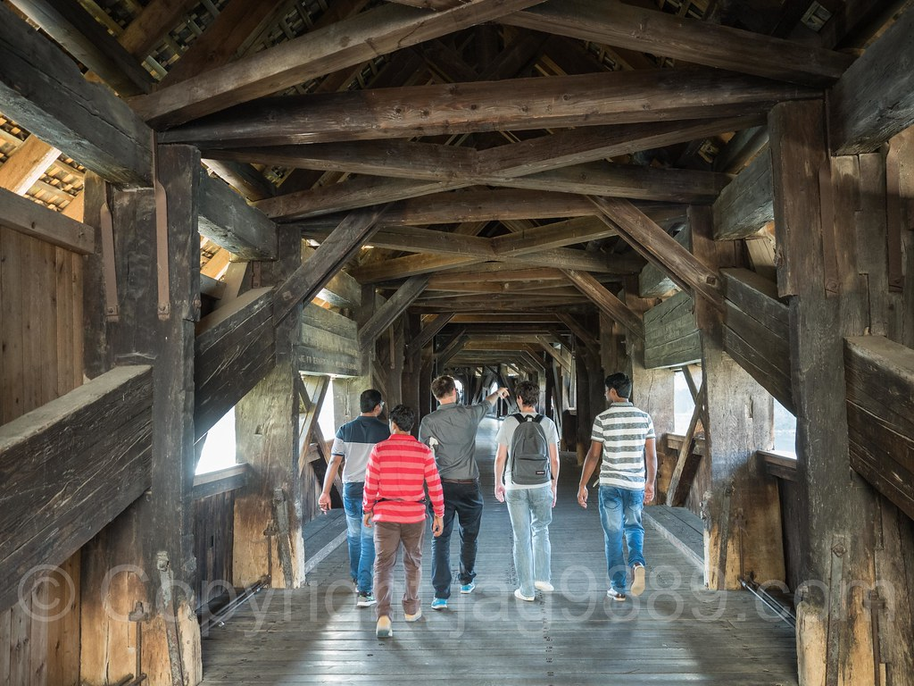 Bad Stein Rhe326 Covered Wooden Bridge Over The Hochrhein River Ste Flickr