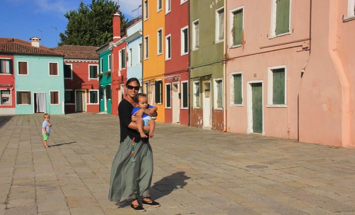 The colourful Burano island trip can be combined with Murano