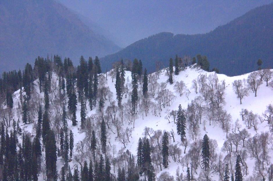 Snow peaks surround Gurez Valley