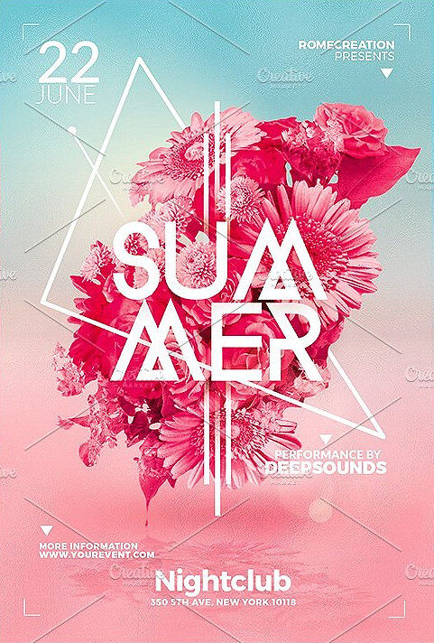 Summer Flyer Template Psd Flyer Templates Created By @Rome\u2026 Flickr