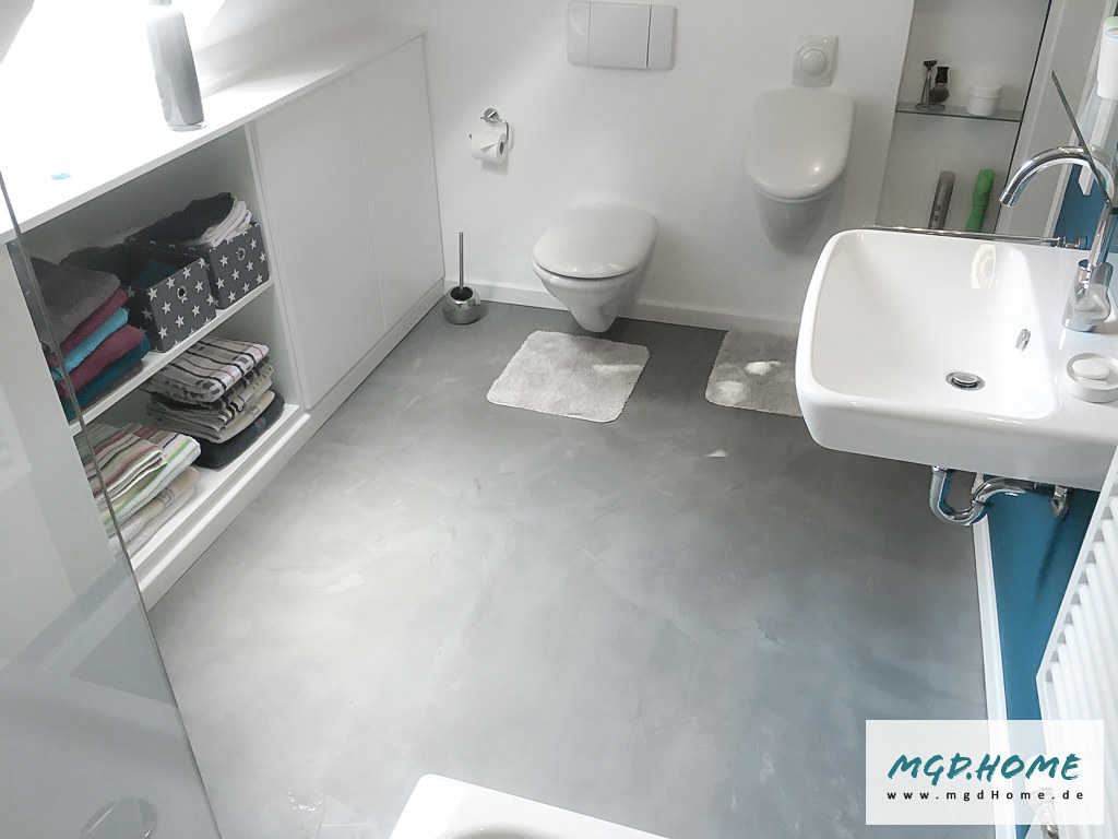 Badezimmer Schwarzer Boden