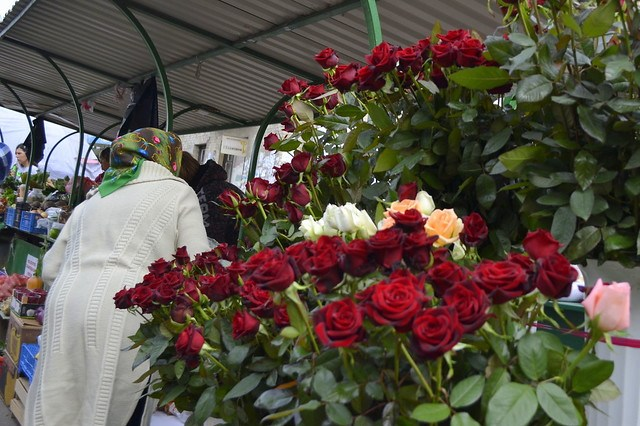 Visit Rivne, Ukraine _ Flowers in Market