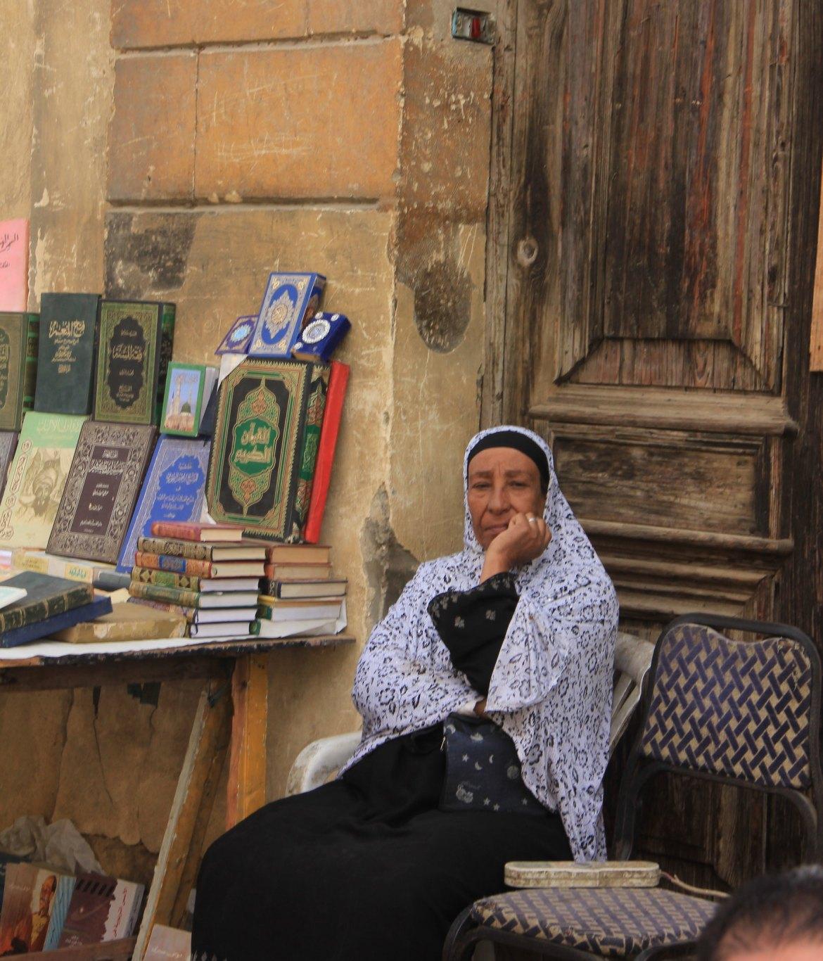 Quran seller at souq al goma