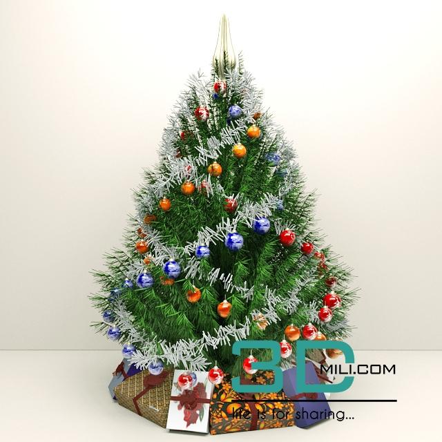 92 Christmas trees - 3D Mili - Download 3D Model - Free 3D Models