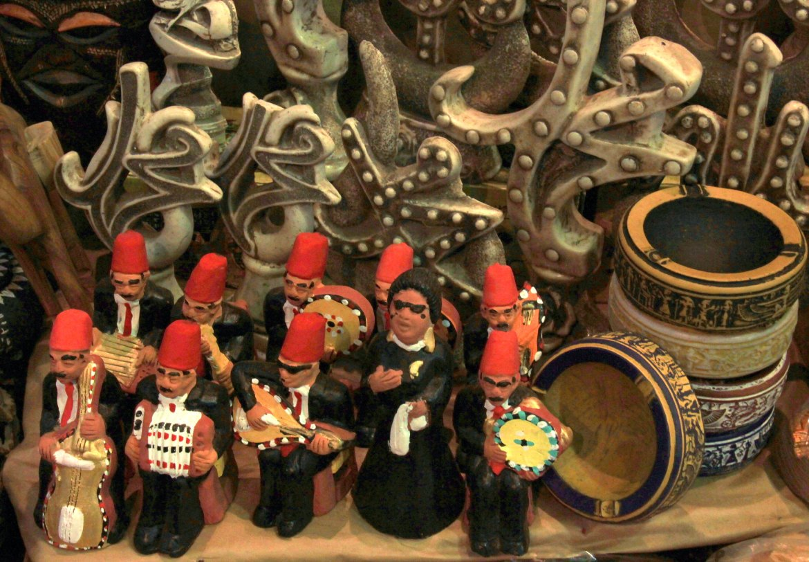 little clay figurines for sale in khan el khalili markets