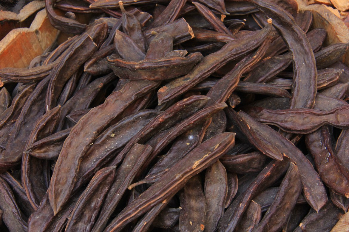 Carob is recommended in spices in khan el khalili guide